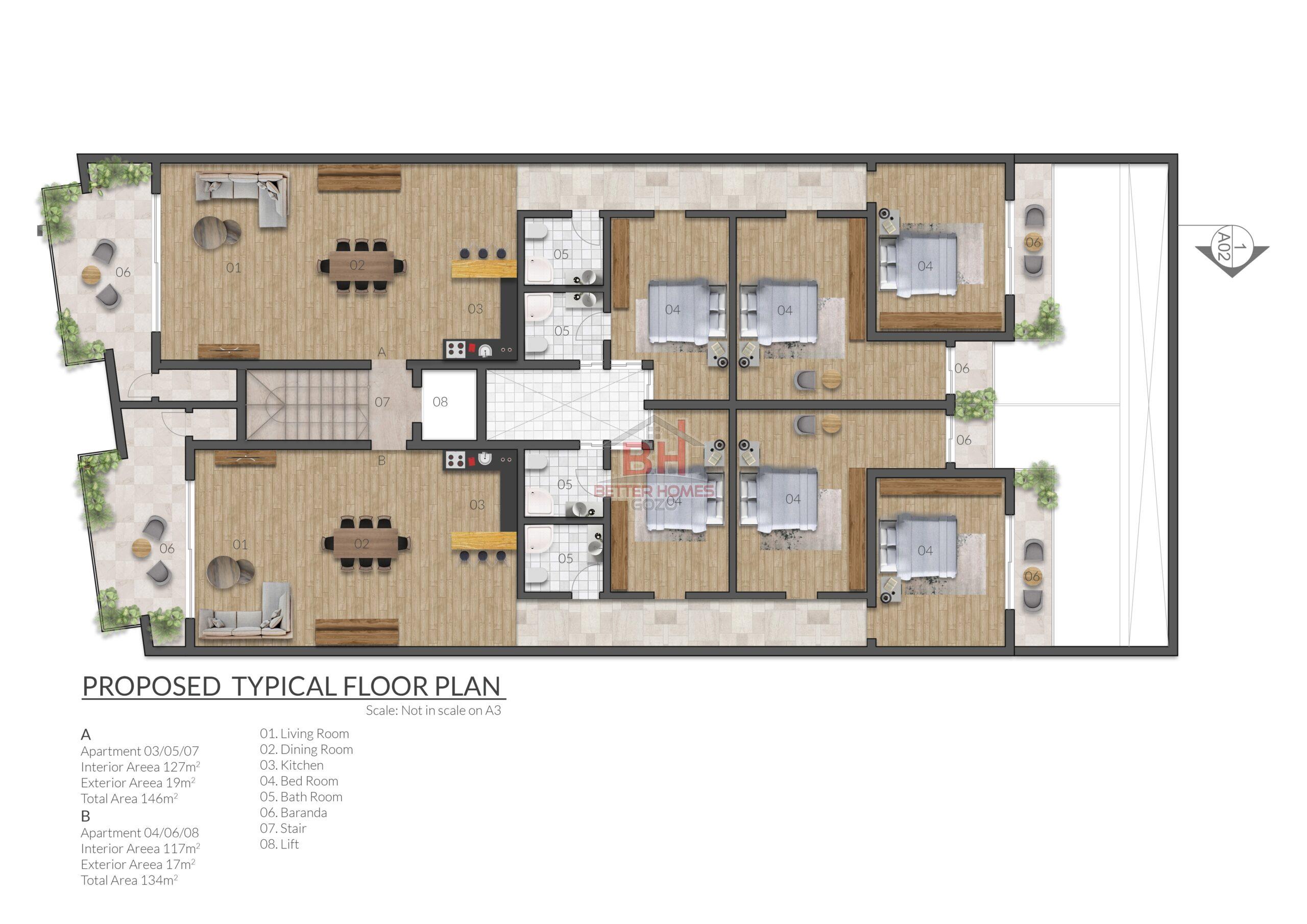 Gozo Xewkija Prime Development with Terraces & Tranquil Area